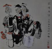 乐山千里马画室国画作品47